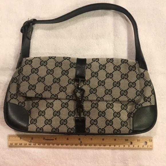 28ca0dfd7146 Gucci Handbags - Gucci Monogram Black/Gray Hand Purse